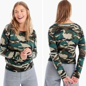 J. Crew mercantile camo crewneck sweater
